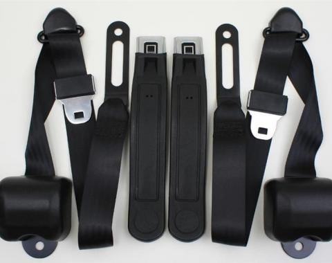 Chevy & GMC Truck Seat Belt Kit, Three Point, For Bucket Seats, With Retractors, 1968-1987