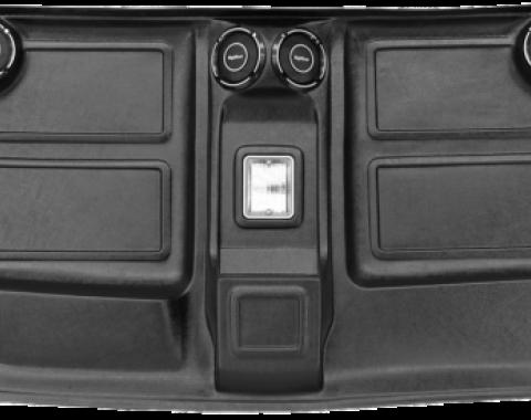 Chevy Truck Headliner, Black, With Speakers, 1973-1987