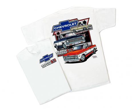 Chevy Truck White T-Shirt, '67-'72