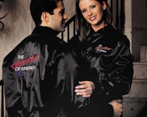 Chevy Heartbeat of America Satin Jacket, Black