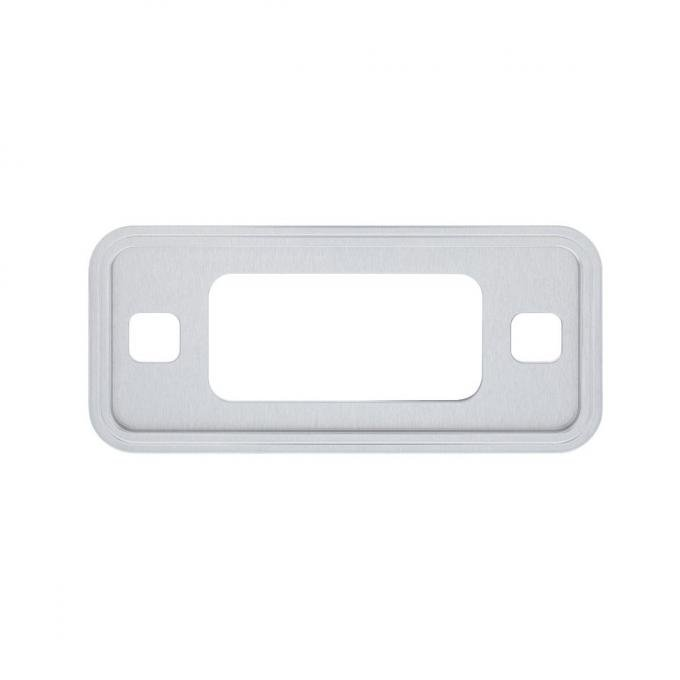 United Pacific Clear Anodized Billet Aluminum Side Marker Light Bezel For 1970-77 Ford Bronco 110774