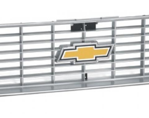 Chevy Truck Front Grille, With Argent Silver & Chrome Grille, 1973-1974