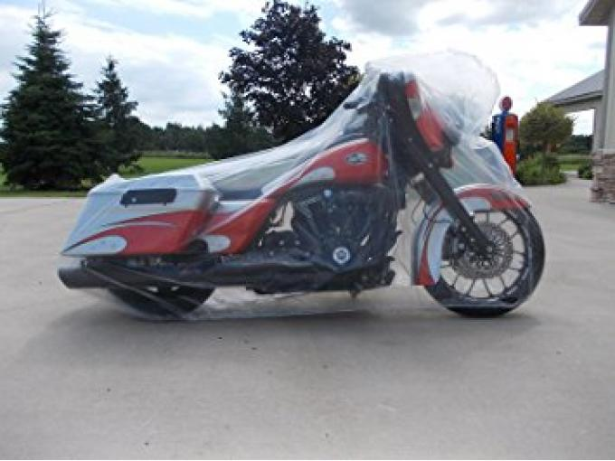 Motorcycle Cover, Disposable Clear