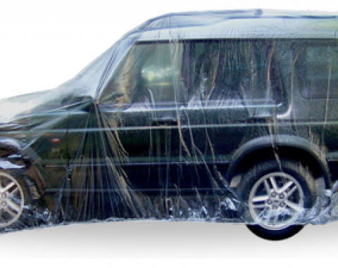 Car Cover, Disposable Clear, Large, 5 Pack