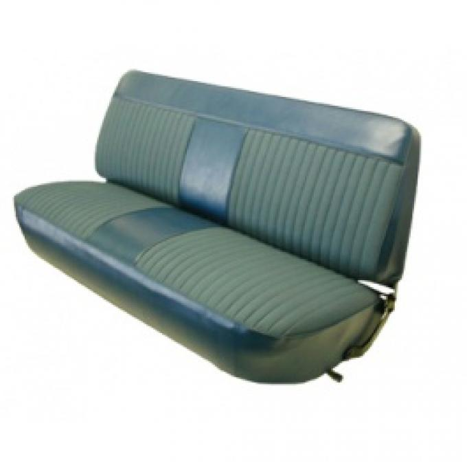 Ford Truck Bench Seat Cover, F150, Ford Grain Vinyl With Woven Cloth, 1973-1979