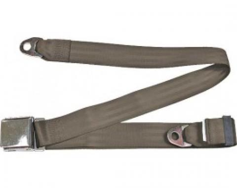 "Seatbelt Solutions 1949-1979 Ford   Mercury Lap Belt, 74"" with Chrome Lift Latch 1800743008   Medium Beige"