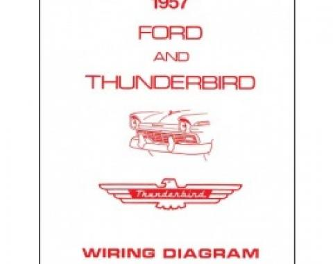 Thunderbird Wiring Diagram Manual, 8 Pages, 1957
