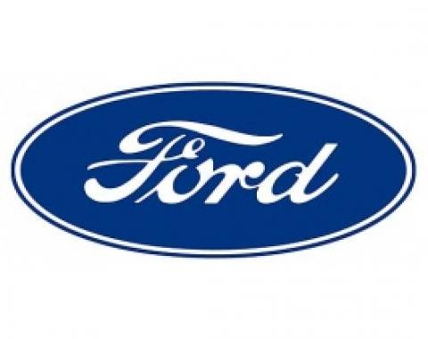 Decal, Ford Oval, 17 Long, White Background