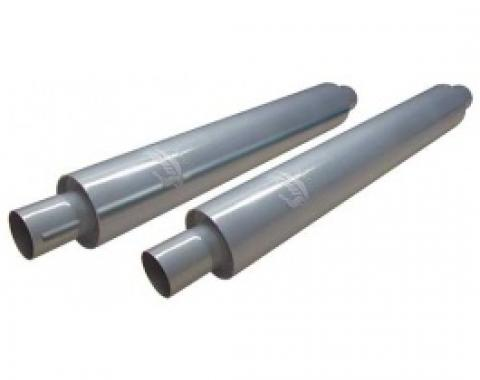 Smithy's Muffler, 30 Case, Fiberglass Packing, 3-1/2 Case Diameter, 2 Inlet and Outlet, Pair