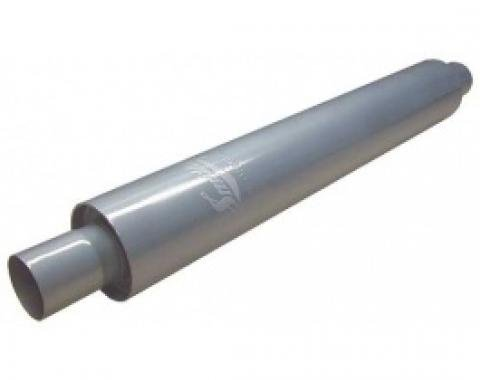 Smithy's Muffler, 30 Case, Fiberglass Packing, 3-1/2 Case Diameter, 2 Inlet and Outlet