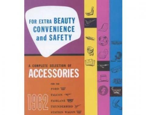 Accessories Brochure, Thunderbird, Fairlane, Falcon, Station Wagons & Trucks, 1962