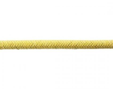 Bulk Wire, #16 Cloth Covered Primary Wire, Yellow, Sold By The Foot