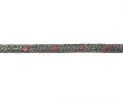 Bulk Wire, #16 Cloth Covered Primary Wire, Black With Red Tracer, Sold By The Foot