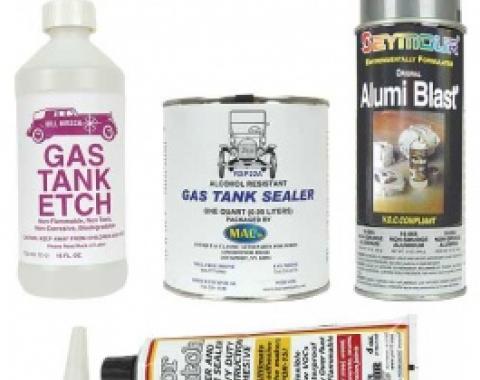 Gas Tank Refurbishing Kit, 4-Pieces, 1955-79