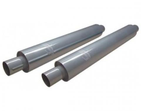 Smithy's Muffler, 22 Case, Fiberglass Packing, 3-1/2 Case Diameter, 2 Inlet and Outlet, Pair