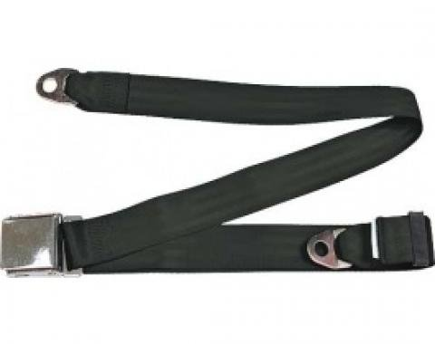 "Seatbelt Solutions 1949-1979 Ford   Mercury Lap Belt, 74"" with Chrome Lift Latch 1800741000   Black"