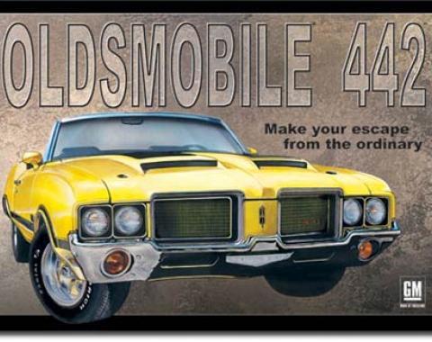 Oldsmobile 442 Tin Sign