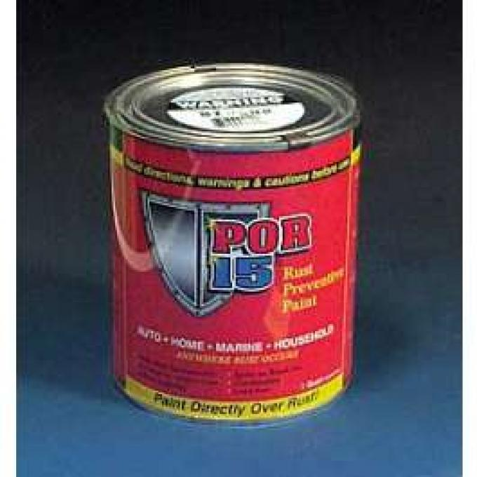 Rust Preventive Paint, Black, Gloss, Quart, POR-15