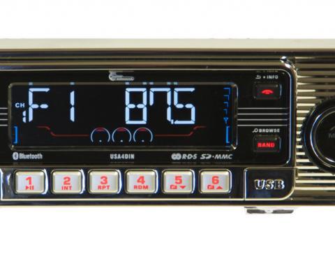 Custom AutoSound® 4-Din Radios   Chrome Face