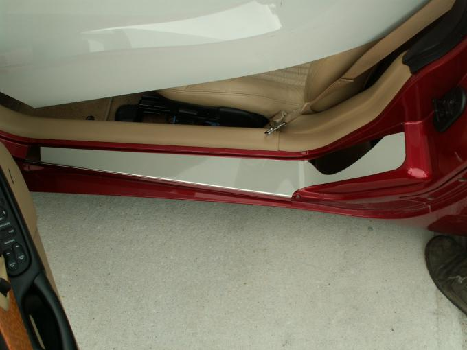 American Car Craft Doorsills Outer Polished Plain No Ribs 2pc 031011