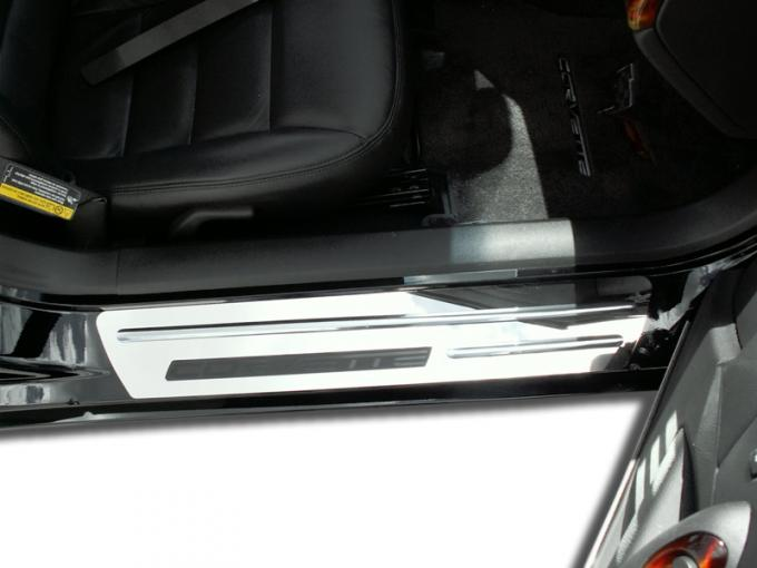 American Car Craft Doorsills Polished Outer w/Chrome Ribs Stock w/opening 041012
