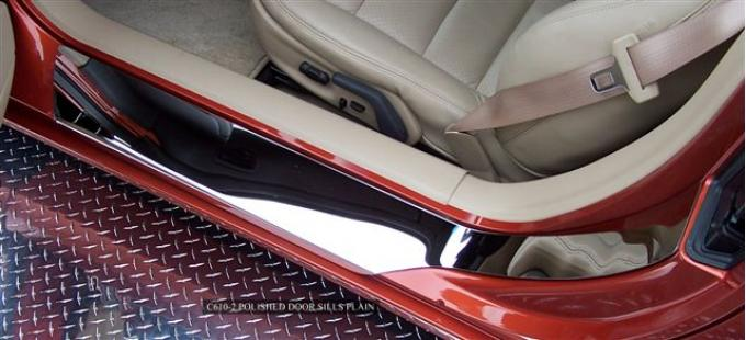 American Car Craft Doorsills Polished Outer Plain No Ribs 041010