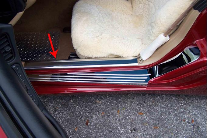 American Car Craft Doorsills Inner Polished 2pc 031014