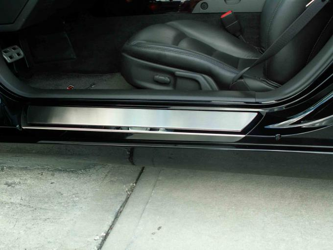 American Car Craft Doorsills Polished Outer w/Satin Inserts Stock 041013