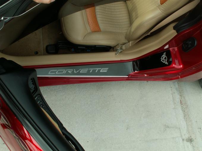 American Car Craft Doorsills Etched GM Licensed Polished 2pc 031013