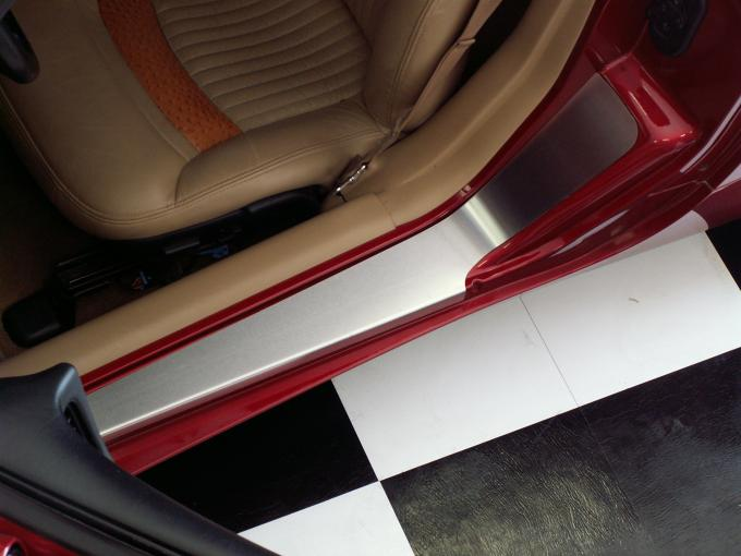 American Car Craft Doorsills Outer Satin Plain No Ribs 2pc 031018