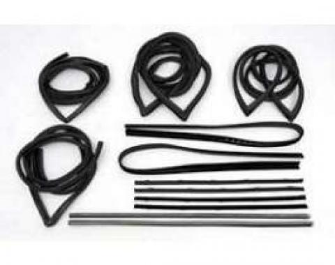 Chevy Truck Weatherstrip Kit, Standard, With Chrome, 1971-1972