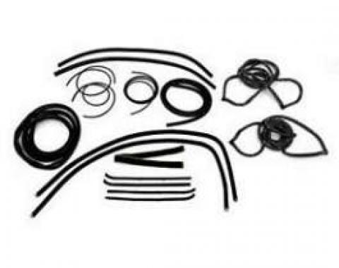 Chevy Truck Weatherstrip Kit, For Small Rear Glass, With Stainless Steel Molding, 1955-1959