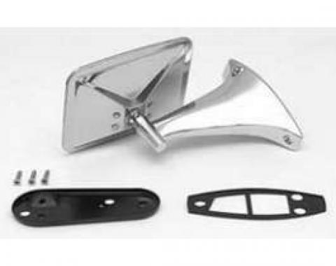Chevy Truck Outside Door Mirror Assembly, Left, 1970-1972