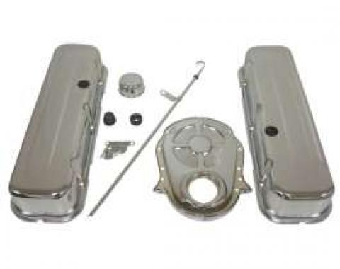 Chevy Truck & GMC Big Block Chrome Engine Dress Up Kit With Short Smooth Style Valve Covers