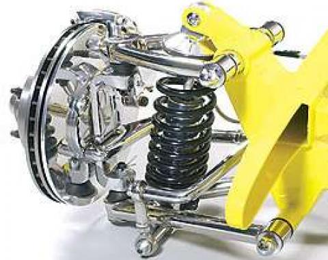 Chevy Truck Independent Front Suspension Kit, Ultra Cruise, With Polished Stainless Steel Control Arms & Power Steering, 1955-1959