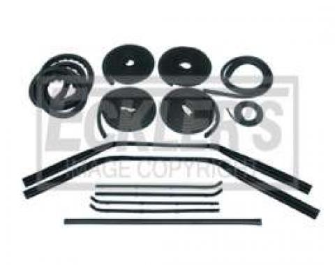 Chevy Truck Weatherstrip Kit, For Small Rear Glass, Without Stainless Steel Molding, 1964-1966