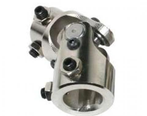 Chevy Truck U-Joint, Nickel Plated, For Manual Rack & Pinion Steering, Lower, 1947-1972