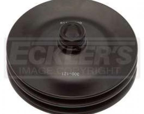 Chevy & GMC Truck Pulley, Power Steering, 2 Groove, 7.4L (454ci), With Manual Control AC, 1984-1985