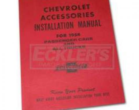 Chevy Truck Accessories Installation Manual, 1954