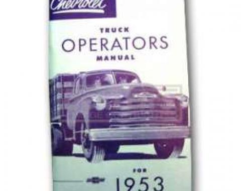 Chevy Truck Owner's Manual, 1953