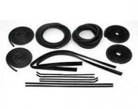 Chevy Truck Weatherstrip Kit, For Large Rear Glass, With Stainless Steel Molding, 1964-1966