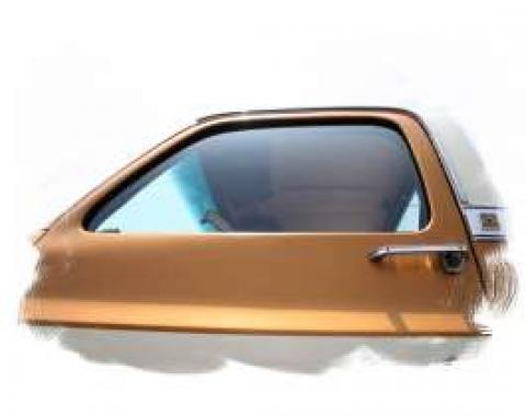 Chevy Truck Vent Window Delete Kit, Green Tint, 1973-1987