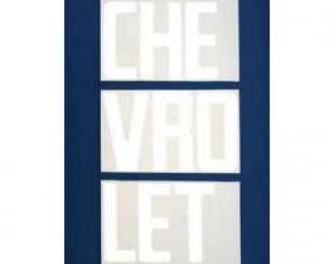 Chevy Truck Tailgate Letters, White, Fleet Side, 1967-1972