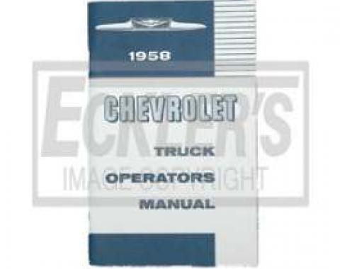 Chevy Truck Owner's Manual, 1958