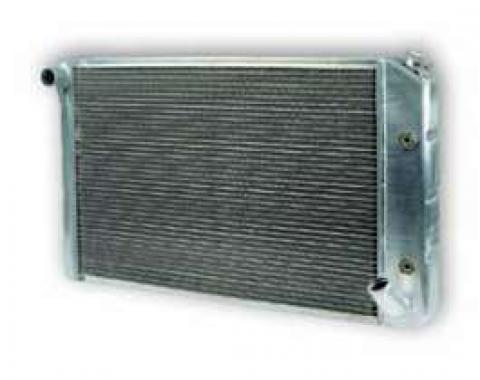 Chevy Truck Aluminum Radiator, With 1-1/4 Tubes, Dual Core, Griffin, 1963-1966