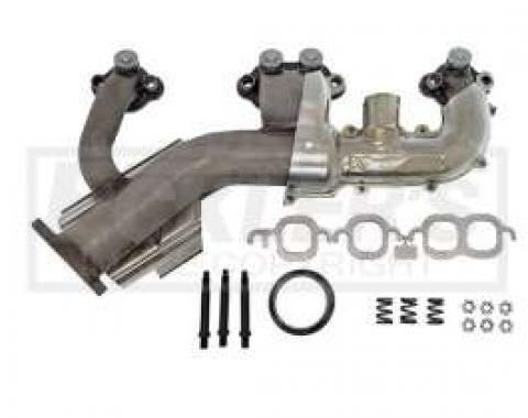Chevy & GMC Truck Manifold. Exhaust, Right, 5.7L (350ci), Stainless Steel, 1985-1988