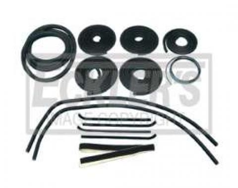 Chevy Truck Weatherstrip Kit, For Small Rear Glass, With Stainless Steel Molding, 1960-1963