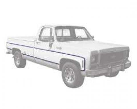 Chevy Or GMC Truck Molding, Fleetside, Lower, Left, Front, 8 Foot Bed, 1973-1980