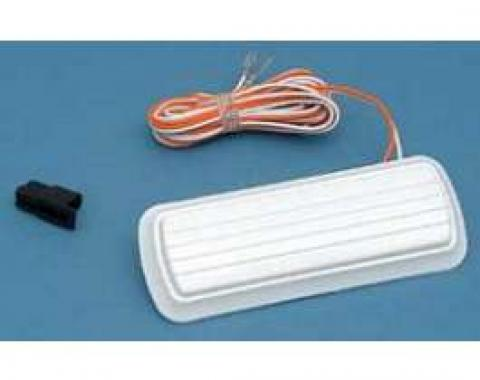 Chevy Truck Dome Light Assembly, White Base, 1960-1972