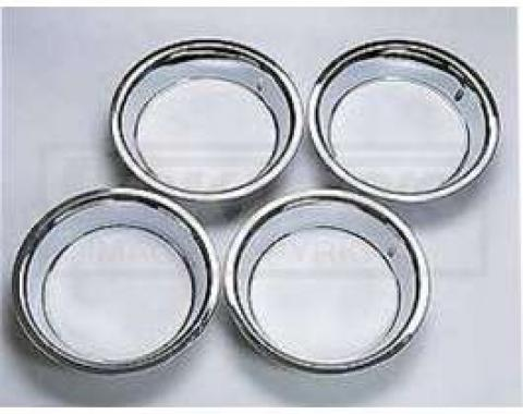 Chevy Truck Rally Wheel Trim Rings, 15 X 8, Stainless Steel, 1947-1987